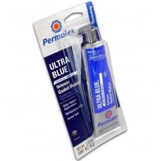 Герметик RTV ULTRA BLUE PERMATEX обладает наиболее высокой эластичностью, 95гр.