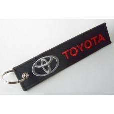 Брелок Toyota ткань с вышивкой 3х13см